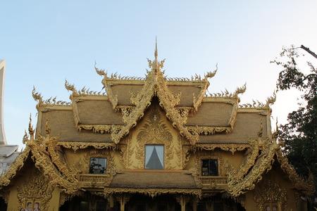 chiangrai: Thai temple - Wat Rong Khun, Chiangrai, Thailand .