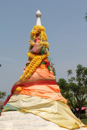 ancient pass: Three pagoda is crossing fom Thailand to Myanma, Sangkhlaburi, Kanchanaburi Thailand. Stock Photo