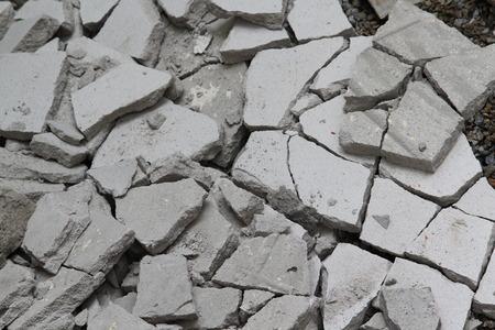 コンクリート瓦礫の破片テクスチャ背景。
