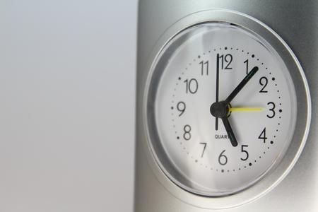 turn dial: Desktop alarm clock isolated on white background. Stock Photo