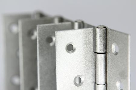 furniture hardware: Door hinges isolated on white background.