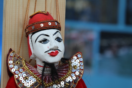 Colorful puppetry Myanmar style for sale.