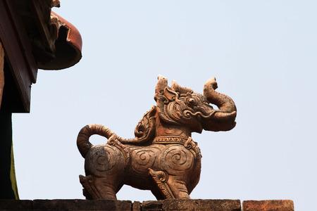 chaingmai: Singha statue in  Chiang Mai , Thailand.