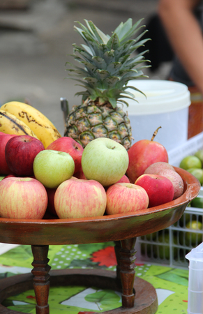 Pile of fruit ready for sale in the market. Stock Photo