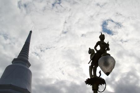Street Lamp, mythical female bird with a human head, Kinnaree.