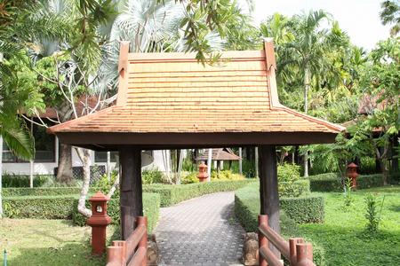 Walkway in the hotel resort. Editorial