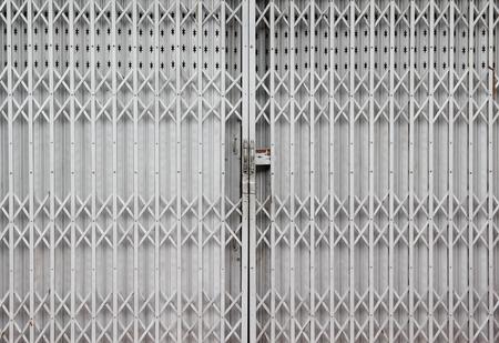 Silver paint steel door and double handle.