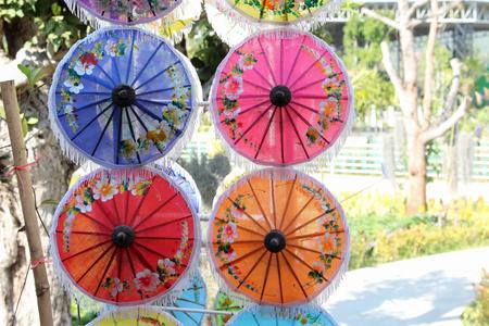 Umbrella in a coffee shop.