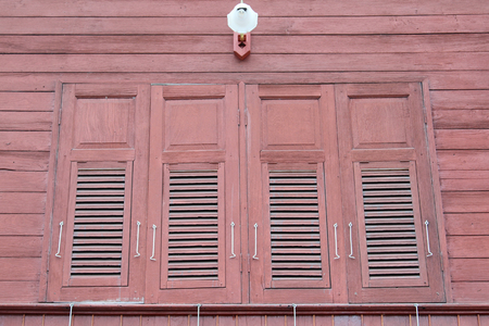Thai traditional style wooden window.
