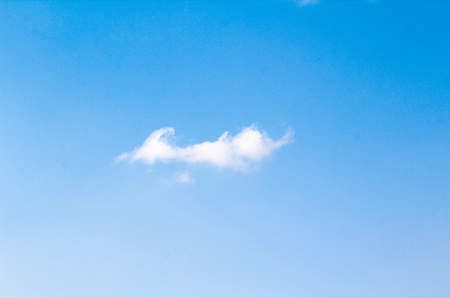 Blue sky with white cloud background.