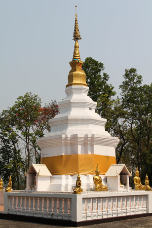 Wat Chom-Kitti or Wat Nong-Kok, Thai temple in Maetang district, Chiangmai, Northern Thailand. Stock Photo