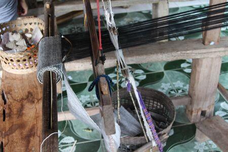 Thai traditional weaving machine, Mae Chaem, Chiangmai, Thailand.