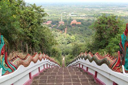 Wat Phraphutthabat Tak Pha, Pa Sang District, Lamphun, Northern Thailand. 写真素材