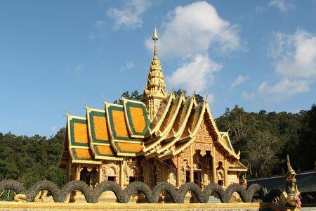 Church of Wat Phra Buddhabart Si Roy, Mae Rim District, Chiangmai province, Northern Thailand.