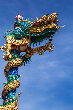 Drago La scultura bellezza motivi arte cinese Archivio Fotografico