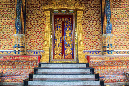 Architecture buddhist artwork spectacular temple  in thailand  photo