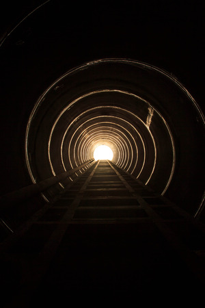 confined space: Lighting at the end of the tunnel.