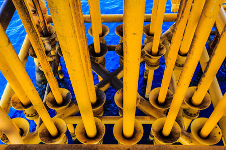 Offshore Industry oil and gas production petroleum pipeline. Banco de Imagens - 40988680