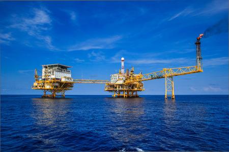 Offshore-Industrie Öl- und Gasproduktion Erdölpipeline.