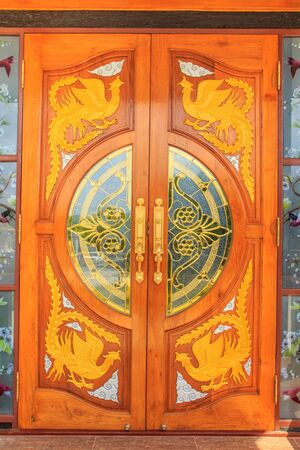 crafted: Patterns background wooden doors crafted.