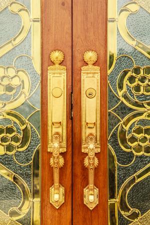 handles: Door handles are made of metal