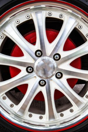 swiftly: Close up of rims from a sport car