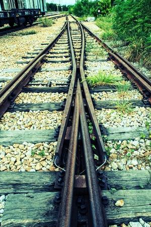 Der Schienenverkehr Reise Standard-Bild