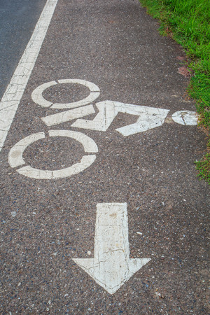 beside: The symbol beside road a cycling safety in driving.
