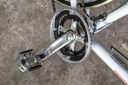 Bicycle wheels the spinning sport healthy.