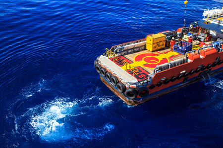 Offshore cargo Industry oil and gas production petroleum Stockfoto