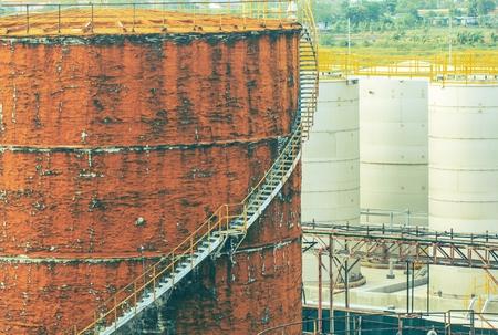 Chemical industry with fuel storage tank Zdjęcie Seryjne