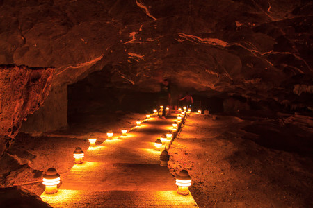 walkway cave in khamin cave National Park, Surat Thani, Thailand