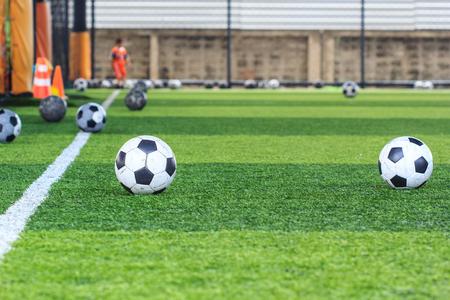 Soccer ball field Stockfoto