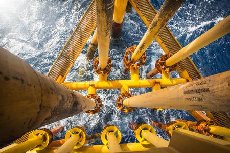 Rurociąg naftowy do produkcji ropy naftowej i gazu na morzu.