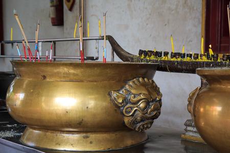 incense burner with lion statue