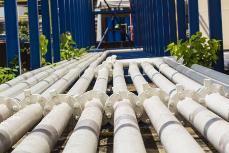 Pipeline white flange oil and gas production petroleum refinery