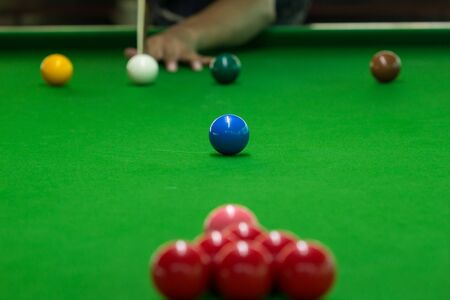Ball and Snooker Player, man play snooker