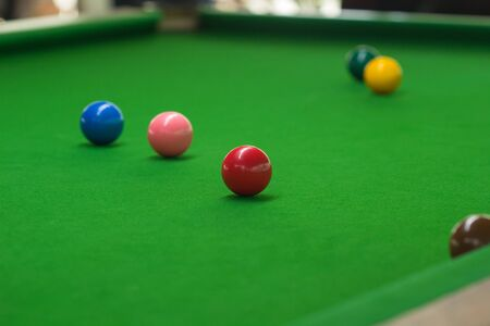 Ball and Snooker Player green carpet floor