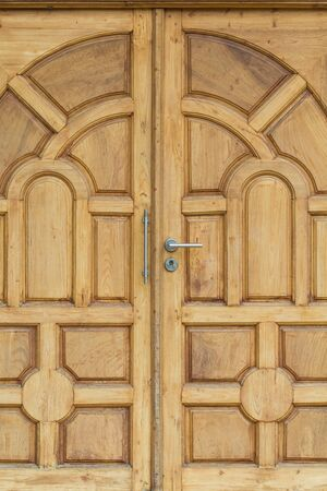 Patterns background wooden doors crafted.