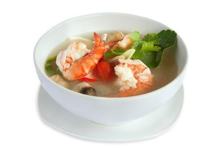 tom: Tom Yum soup, a Thai