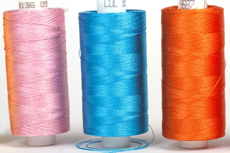 darn: multi-colored rainbow threads for sewing