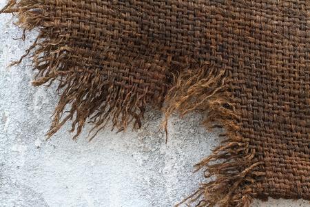 Background of Natural burlap hessian sacking Stock Photo - 10860304