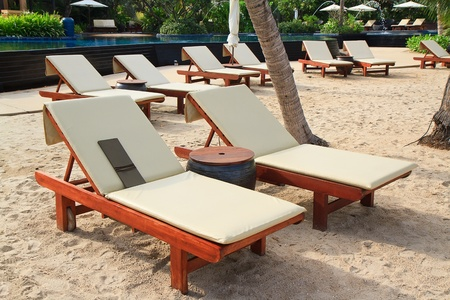 Exotic Tropical Beach beds photo
