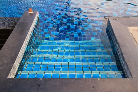 A swimming pool with stairs. photo