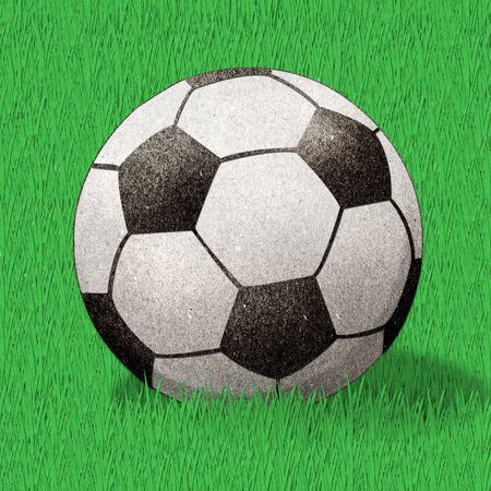 football  recycled paper craft stick  photo