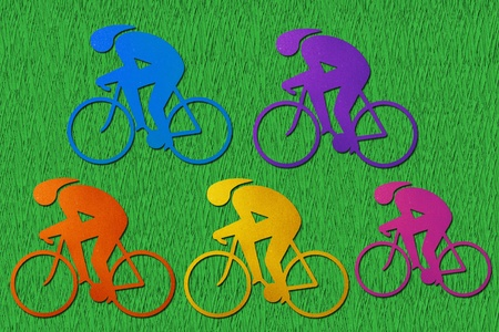 Bicycle recycled paper craft stick  photo