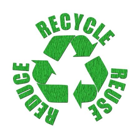 recycler: Logo recycl�s � partir de papier recycl�
