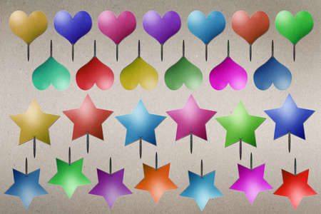 star and heart Balloons of paper recycling. photo