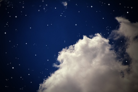 dark cloud: Night Sky Stock Photo