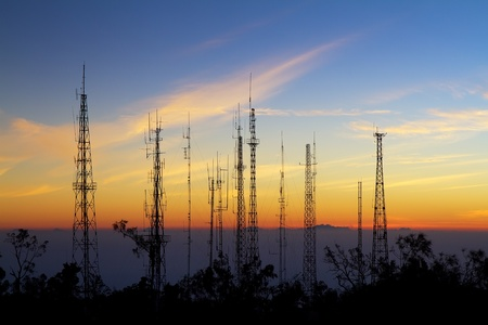 Antenna from viewpoint on Mount Penanjakan indonesia
